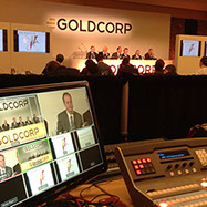 Example of Webcast, and staging designed by Platform Productions Inc.